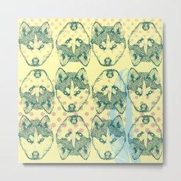Wolf Print Metal Print