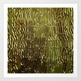 Pillow #15 GOLD Art Print