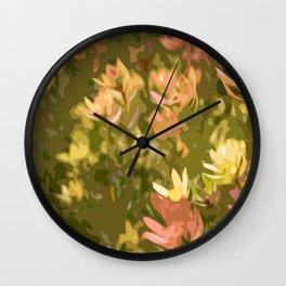 Protea fields Wall Clock