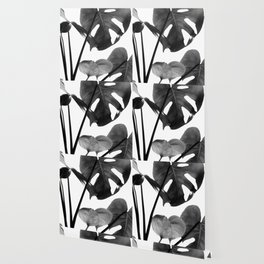 Monstera Vibes #2 #minimal #decor #art #society6 Wallpaper