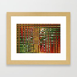Abstract Art Work Geometic Framed Art Print