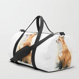 Fox Watercolor Red Fox Painting Duffle Bag
