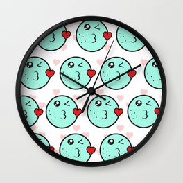 Love emoji Wall Clock
