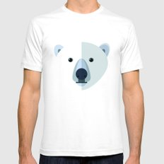 Polar bear White SMALL Mens Fitted Tee