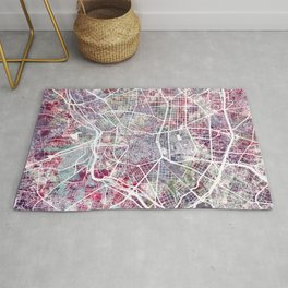 Madrid map Rug
