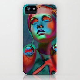 """Psychedelic Pop Fantasy"" (Twiggy II) iPhone Case"