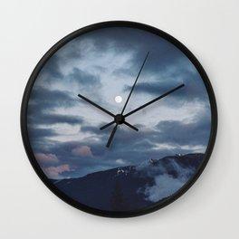 quietly, moon Wall Clock