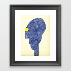 - space message - Framed Art Print