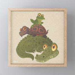Swamp Squad Framed Mini Art Print