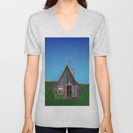 Old Small House Unisex V-Neck