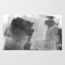 Black and Grey Concrete Texture Urban Minimalist Rug