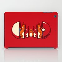 squirtle iPad Cases featuring Poketryoshka - Fire Type by Michael B. Myers Jr.