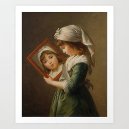 Elisabeth Louise Vigée Le Brun - Looking in a Mirror Art Print