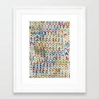 knit Framed Art Prints featuring Knit Pattern  by Manuela Mishkova