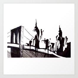 Brooklyn Bridge.. Art Print