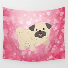 Cartoon Pug Dog Wall Tapestry