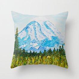 Mt. Rainier Washington Throw Pillow