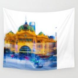 Flinders Street Photo Montage Wall Tapestry