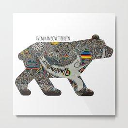 Berlin Bear Metal Print