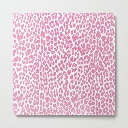 Chic Pink Cheetah Pattern Metal Print