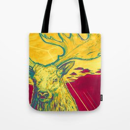 Stag Dimension of Yellow Tote Bag