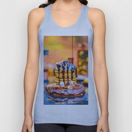 Chocolate Smores Pancakes at a Cabin Unisex Tank Top