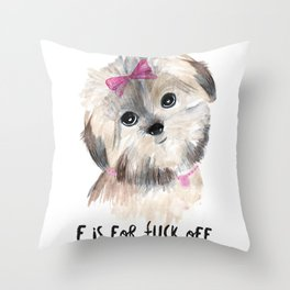 How Rude Throw Pillow