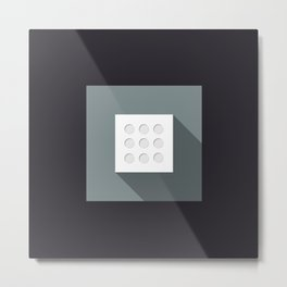 "Dice ""nine"" with long shadow in new modern flat design Metal Print"