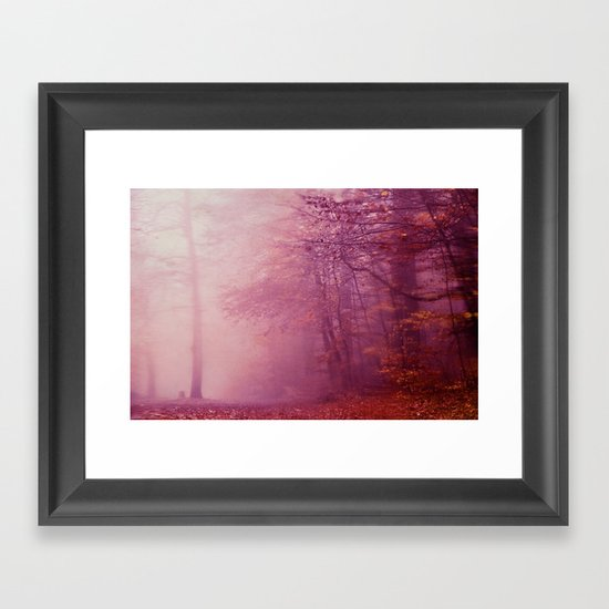 in the fog Framed Art Print