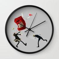 durarara Wall Clocks featuring Shizuo and Izaya 1 by Prince Of Darkness