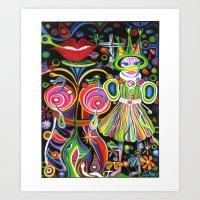 COSMIC CHILD Art Print
