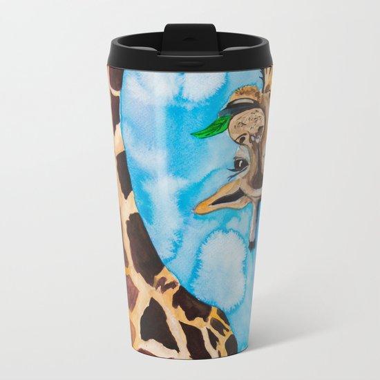 friendly giraffe Metal Travel Mug