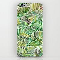 tropical iPhone & iPod Skins featuring Tropical Green by Cat Coquillette