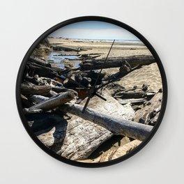 Drifting on Newport Beach Wall Clock