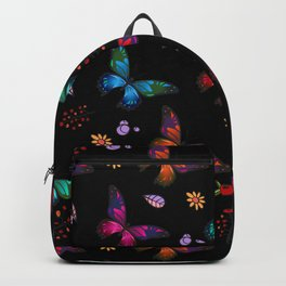 Pretty Vibrant Colorful Butterflies Pattern Backpack