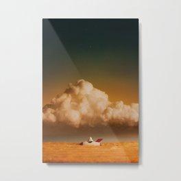 Stranded Astronaut Metal Print