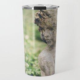 Cupid Love Statue Photograph Travel Mug