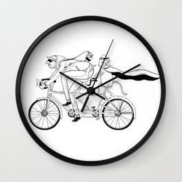 cat ride Wall Clock