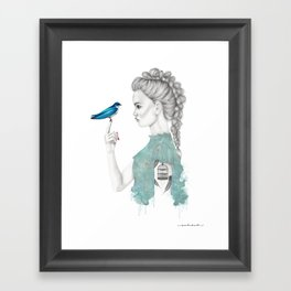 Bluebird girl Framed Art Print