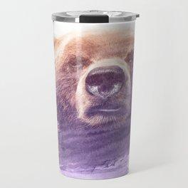 BEAR SUPERIMPOSED WATERCOLOR Travel Mug