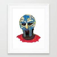 mf doom Framed Art Prints featuring MF DOOM by foodpyramids