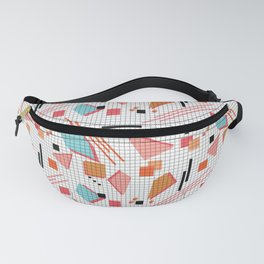 Seamless school geometric memphis shapes pattern striped lined background Fanny Pack