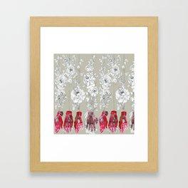 Flowers and hands Framed Art Print