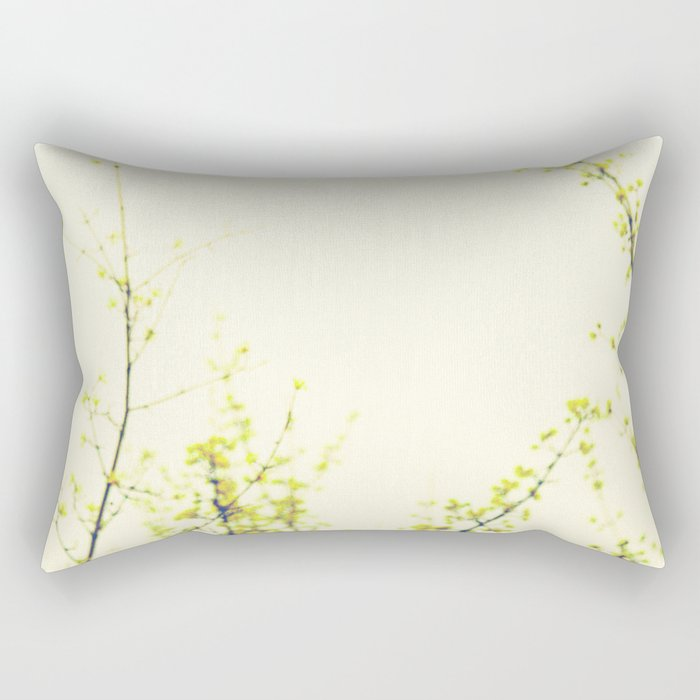 Her Thoughts Were Like Flowers Floating to the Sky Rectangular Pillow