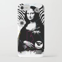 mona lisa iPhone & iPod Cases featuring mona lisa by DESIGN