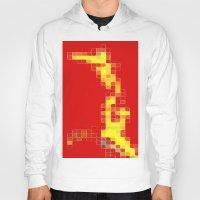 pixel Hoodies featuring Pixel  by Lior Blum