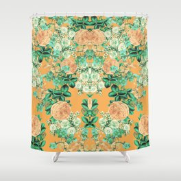 Orange Spring Set Shower Curtain