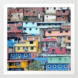 Venezuelan Tetris Art Print