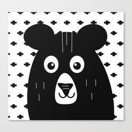 Black and White Bear Canvas Print