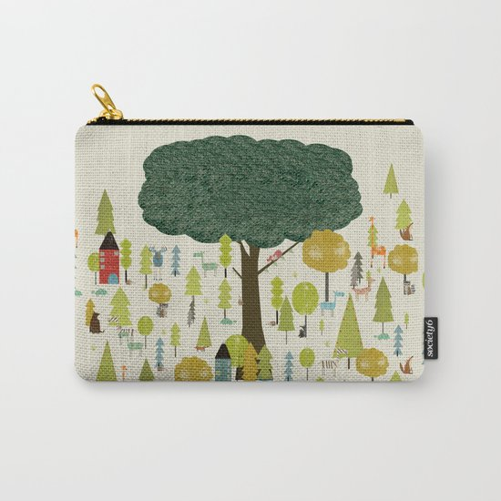 little nature wood Carry-All Pouch